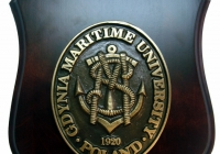 Plakieta mosiężna Akademii Morskiej Gdynia