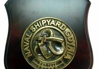 Plakieta mosiężna Stoczni Marynarki Wojennej