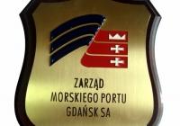 Plakieta mosiężna Zarządu Portu Gdańsk