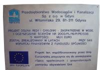 Tablica informacyjna PEWIK GDYNIA dofinansowanie UE
