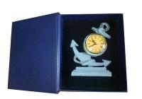 zegar mosiężny w etui